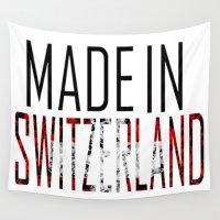 switzerland Wall Tapestries featuring Made In Switzerland by VirgoSpice