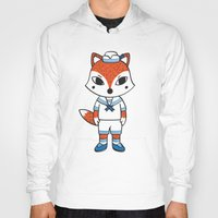 preppy Hoodies featuring The Preppy Fox by moochi