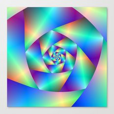 Spiral in Blue and Purple Canvas Print