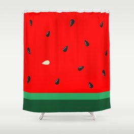 Watermelon | Watermelon Seed | Watermelon Home Decor | pulps of wood Shower Curtain