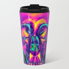 Trippy Skull Travel Mug