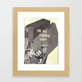 Anything Twice Framed Art Print