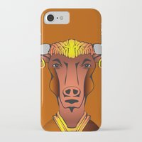 bull iPhone & iPod Cases featuring Bull by ale_z
