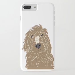 A doodle of a Golden Doodle iPhone Case