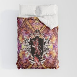 Lion Shield Colorful Geometry Pattern Comforters