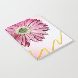 pink gerbera daisy with ribbon Notebook