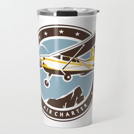 Aviation badge in retro style Travel Mug