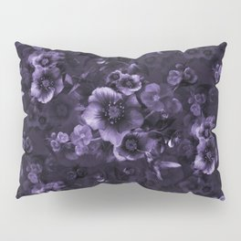 Moody florals purple by Odette Lager Pillow Sham