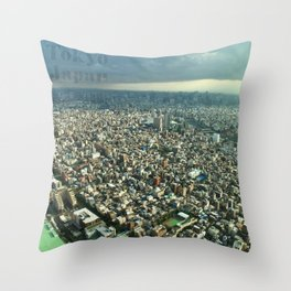 View of Tokyo from Skytree Throw Pillow