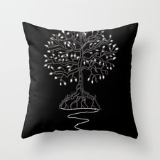 Tree of Life Light Throw Pillow
