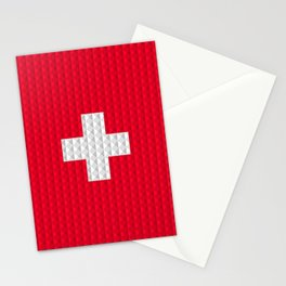 Swiss flag by Qixel Stationery Cards