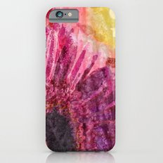 Pink glitter blossom -Floral watercolor illustration iPhone 6s Slim Case