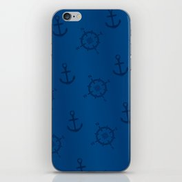 Pattern: wind rose and anchor iPhone Skin