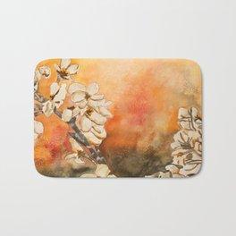 Oriental Modern Art Flowers Bath Mat