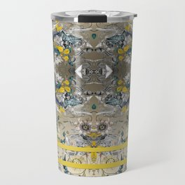 Passion Flower Baroque in Gold Yellow Grey Travel Mug