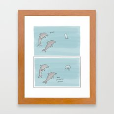 Marine Ghost Hunt Framed Art Print