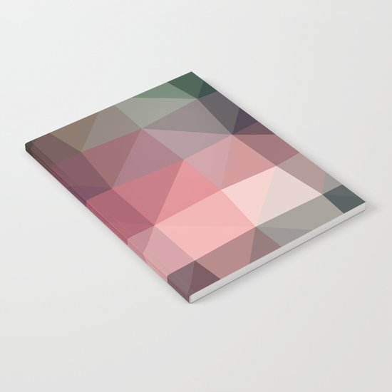 Shades of Mauve Triangle Abstract Notebook