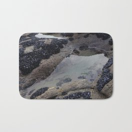 Rock Pool Amongst Mussel Beds Bath Mat