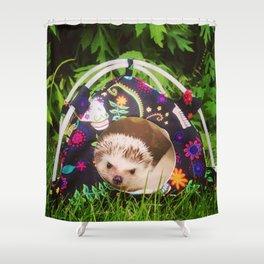 Juni Hedgehog tent Shower Curtain