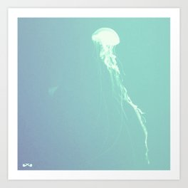 Pulsating Cnidaria. Art Print