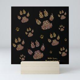 Cute paws for animal lovers Mini Art Print