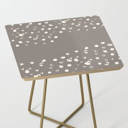 Dappled Hide in Taupe Side Table