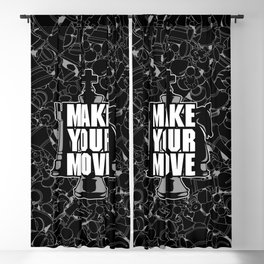 Make Your Move Chess Blackout Curtain