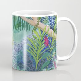 Jungle Paradise Watercolor Coffee Mug