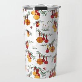 Scandinavian Christmas Snow Hygge Travel Mug