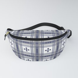 Preppy Plaid in Navy and Gray Fanny Pack