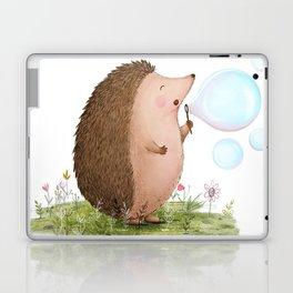 Let's Blow Bubbles- Hedgehog Illustration Laptop & iPad Skin