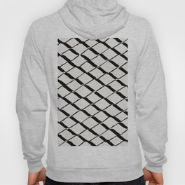 Modern Diamond Lattice Black on Light Gray Hoody
