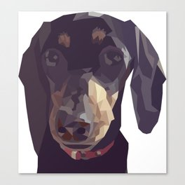 Geometric Sausage Dog Digitally Created Canvas Print