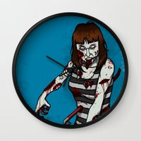 dana scully Wall Clocks featuring Dana by ZOMBIFIED