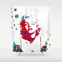 monroe Shower Curtains featuring MONROE by Bianca Lopomo