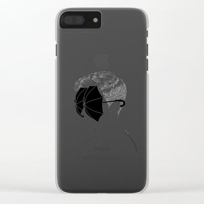 It's Raining Inside Clear iPhone Case