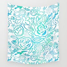 A Profusion of Flowers II Wall Tapestry