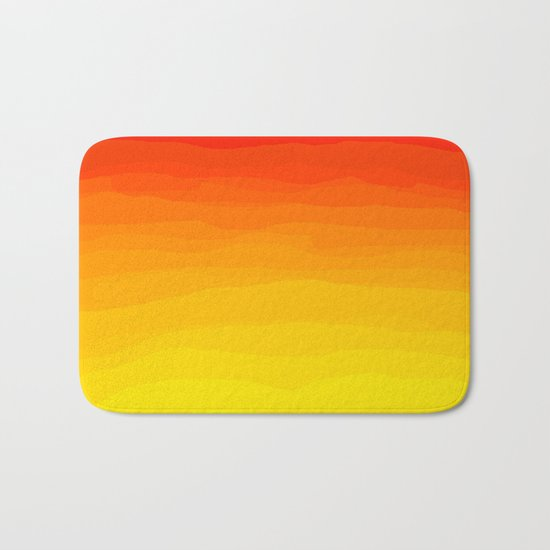 Red to Yellow Sunset Bath Mat