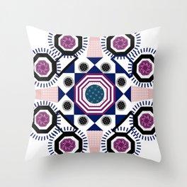 Mixed Emotions Mandala Throw Pillow