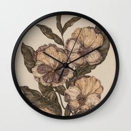Pansy Wall Clock