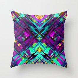 Colorful digital art splashing G472 Throw Pillow