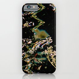 Digital Baby's Breath | Black Botanical, Surreal, Mixed Media, Floral Photo iPhone Case