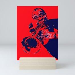 Society6 100 Elements Of Louis - Louie - Daniel Armstrong Satchmo - Satch - Pops - Pop Sketch-Art 45 Mini Art Print