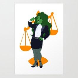 Judge, Jury, and Executioner Art Print