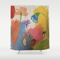 mouse Shower Curtains featuring Mouse by SketchMaster