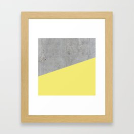 Concrete and Yellow Color Framed Art Print