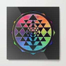 Maverick Rainbow Sri Yantra Metal Print