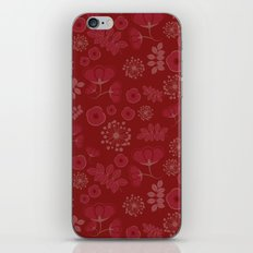 Marsala flowers pattern iPhone & iPod Skin