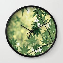 Green Japanese Maple Wall Clock