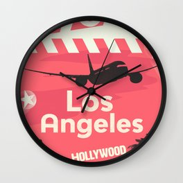 Los Angeles RED Wall Clock
